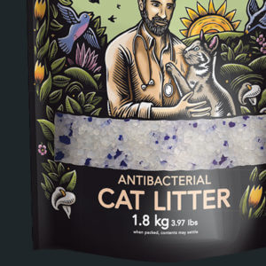 ANTIBACTERIAL CAT LITTER CRYSTALS 1.8kg